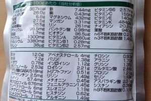 マルンガイ健美葉に含まれる栄養素(一部)