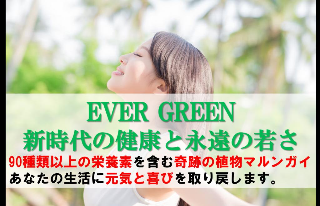 新時代の健康と永遠の若さEVER GREENメールセミナー