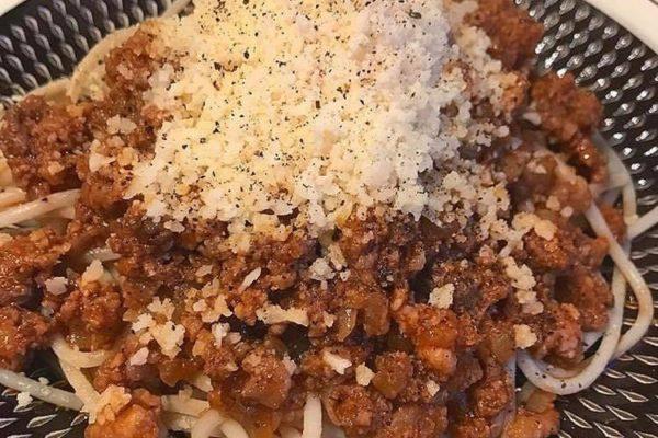 定番のミートソースも塩をちきゅうの雫に替えると美味しささらにアップ