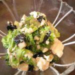 青菜と豆腐の海苔塩麹サラダ