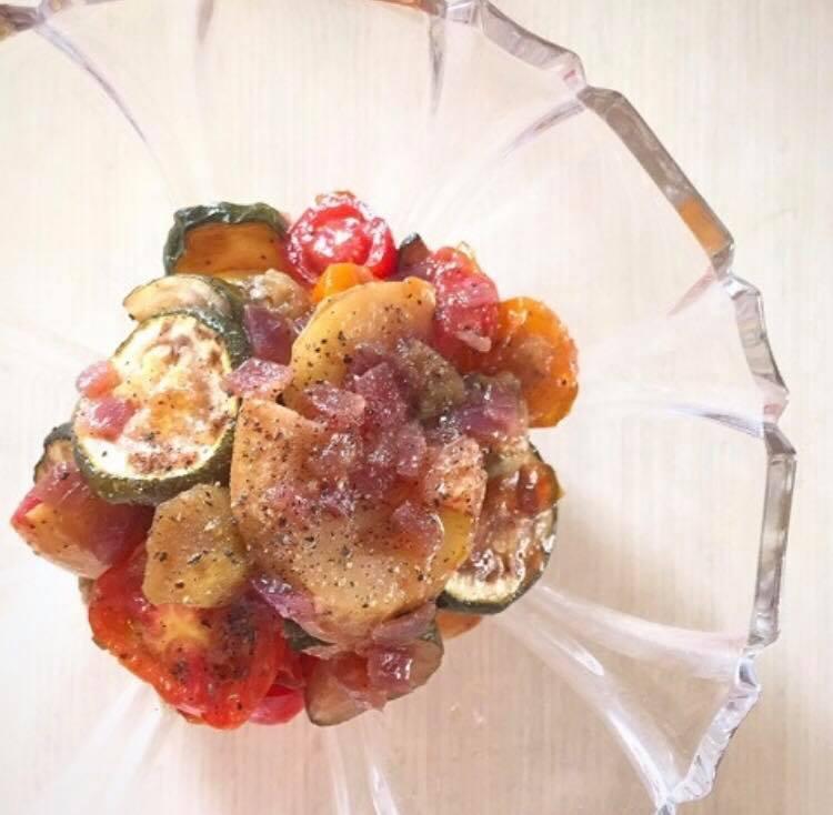 ちきゅうの雫、塩を効かしてやみつき夏野菜のグリルマリネ